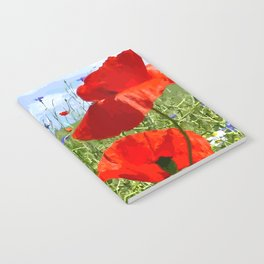 Wild Poppy Notebook