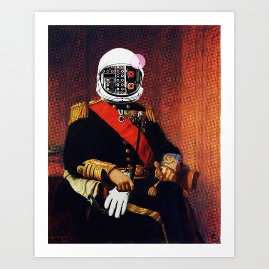 Space General Plug Man Art Print