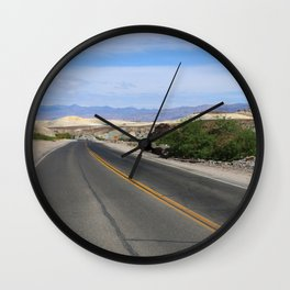Long Desert Road Wall Clock