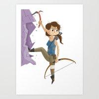 lara croft Art Prints featuring Lara Croft by James Loram