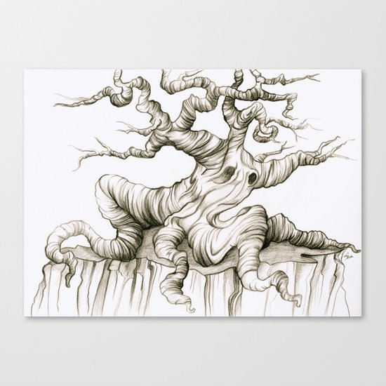 Sad Sad Tree Canvas Print