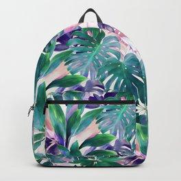 Pastel Summer Tropical Emerald Jungle Backpack