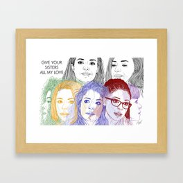 Orphan Black - Clone Colors Framed Art Print