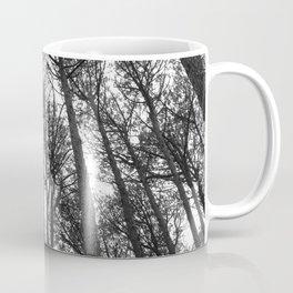 Monochrome Forest Trees Coffee Mug