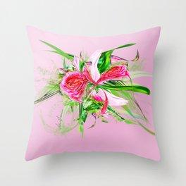 Pastells Pink by Mia Niemi Throw Pillow