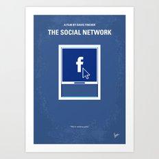 No779 My The Social Network minimal movie poster Art Print