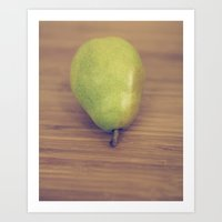 pear Art Prints featuring Pear by Jessica Torres Photography