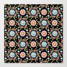 Millefiori Pinwheel Pattern Canvas Print
