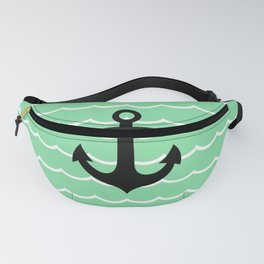 Wave & Anchor Fanny Pack