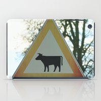 cows iPad Cases featuring Attention cows by Falko Follert Art-FF77