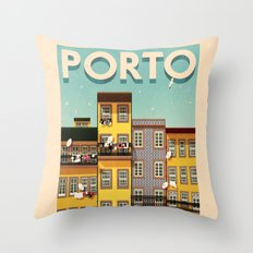 Portugal - Porto Throw Pillow