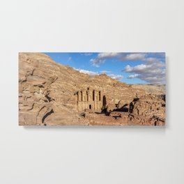 The Monastery, Ad-Deir, elevated view, Petra, Ma'an Governorate, Jordan Metal Print