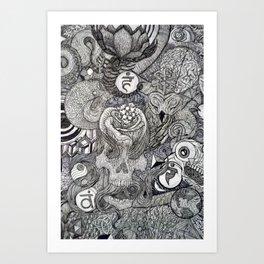 On my Mind Detail Art Print