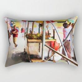 Street Vendors 2 Rectangular Pillow