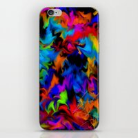 psychedelic art iPhone & iPod Skins featuring Psychedelic  by Lord Rukaj
