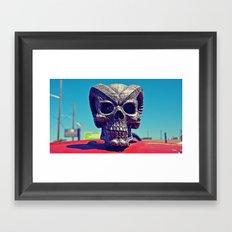Evil hood ornament Framed Art Print