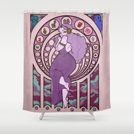 Princess of Space Shower Curtain