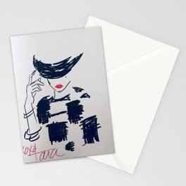 fashion babe Stationery Cards