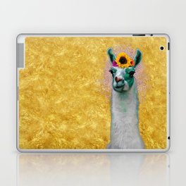 Flower Power Llama Laptop & iPad Skin