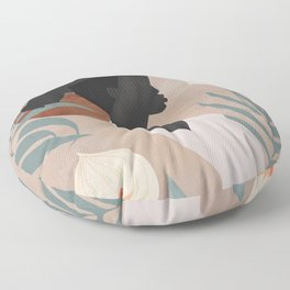 Tropical Girl 4 Floor Pillow