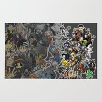 luffy Area & Throw Rugs featuring Doodle! by Arry Design