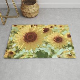 Yellow Sunflowers Rug