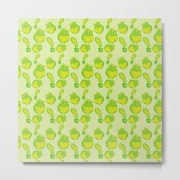 All the bright green succulents Metal Print