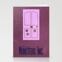 monsters inc Stationery Cards featuring Monsters Inc. by Matt Bacon
