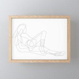 Woman Reclining Framed Mini Art Print