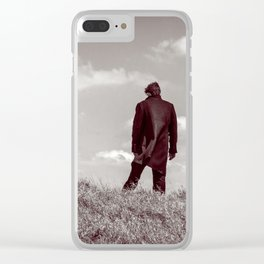 Staring Towards The Treshold Clear iPhone Case