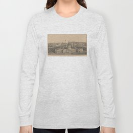 Vintage Pictorial Map of Washington DC (1864) Long Sleeve T-shirt