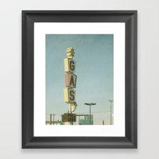 Vintage Gas Framed Art Print