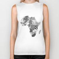 africa Biker Tanks featuring Africa by Kacenka