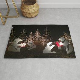 Polar Bear Christmas Rug