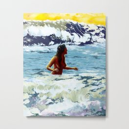 The Cleansing Sea Metal Print