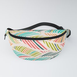 Beautiful Bohemian Boho Chic Multicolor Feather Pattern Fanny Pack