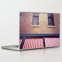 memphis Laptop & iPad Skins featuring Memphis Wall by wendygray