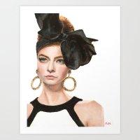 moschino Art Prints featuring Moschino Fall 2012 by Kafie Martin