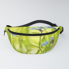 Lovely Morning Meadow Forget Me Not #decor #society6 Fanny Pack