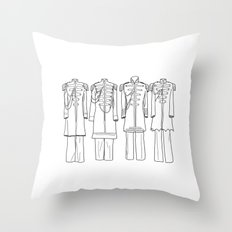 Sgt. Peppers BW Throw Pillow