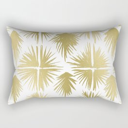 Radiate Gold Rectangular Pillow