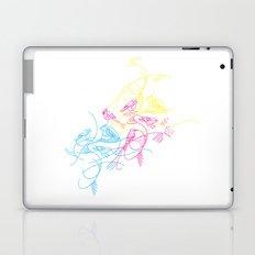 birds doodle in cmyk Laptop & iPad Skin