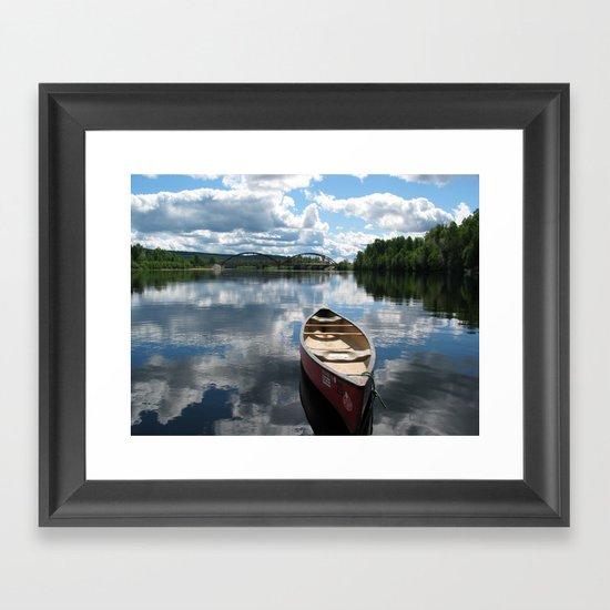 Canoe Framed Art Print