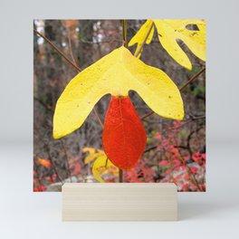Watercolor Tree, Part, Sassafras 01, Skyline Drive, Virginia, Trapped Pigments of Autumn Mini Art Print