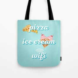 Pizza Ice cream Wifi Tote Bag