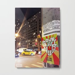 City Night Life Metal Print
