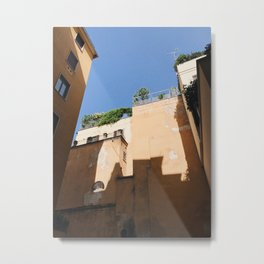 Shadows in Milan, Italy Metal Print