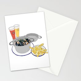 Mussels from Brussels Stationery Cards