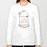 whiskey Long Sleeve T-shirts featuring Whiskey Illustration  by Old South Inkery