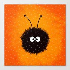 Orange Cute Dazzled Bug Winter Canvas Print